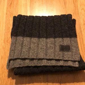 Coach light and dark gray scarf